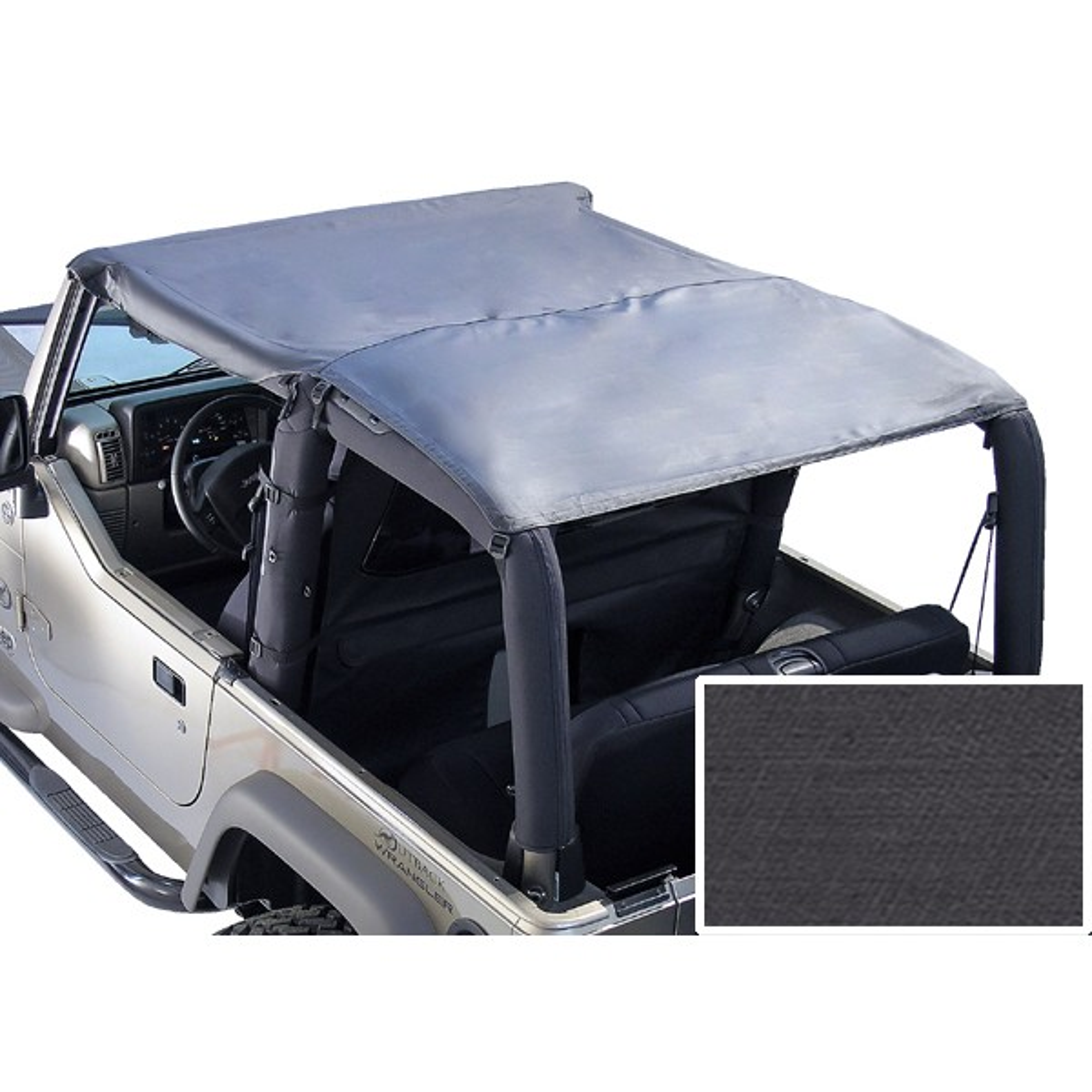 Roll Bar Top Black Denim 76 91 Jeep CJ7 Wrangler YJ