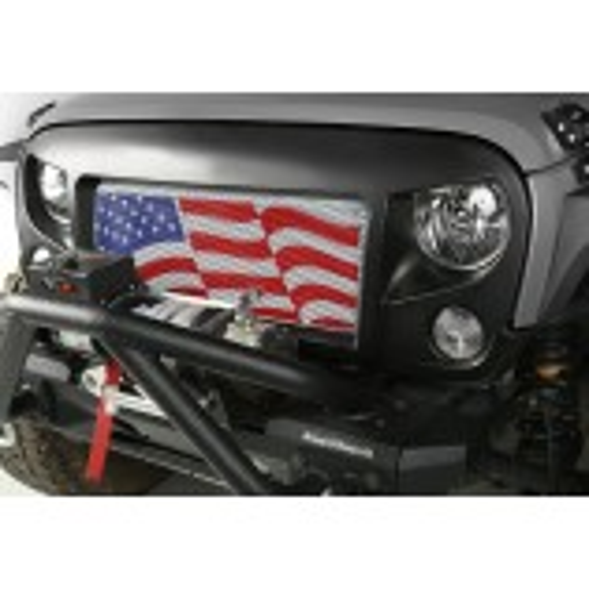 Spartan Grille Insert, American Flag; 07-15 Jeep Wrangler JK