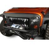Spartan Grille Insert, Monster Teeth; 07-15 Jeep Wrangler JK