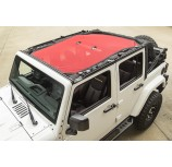 Eclipse Sun Shade, Red; 07-15 Jeep Wrangler Unlimited JK, 4-Door