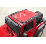 Eclipse Sun Shade, Red; 07-15 Jeep Wrangler JK, 2-Door
