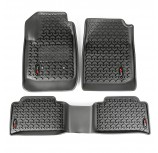 Floor Liners Kit, Frnt/Rr, Black; 15-17 Chevrolet Colorado/GMC Canyon