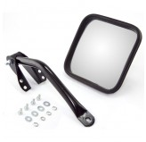 Mirror Head and Arm Kit, Black, Left Side; 55-86 Jeep CJ Models