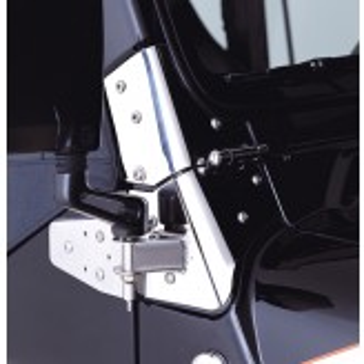 Mirror Relocation Brackets, Stainless Steel; 97-02 Jeep Wrangler TJ