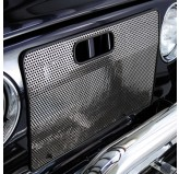 Radiator Bug Shield, Stainless Steel; 97-06 Jeep Wrangler TJ