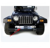 Front Frame Cover, Stainless Steel; 97-06 Jeep Wrangler TJ