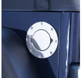 Non-Locking Gas Cap Door, Stainless Steel; 97-06 Jeep Wrangler TJ