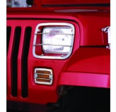 Euro Guard Set, Stainless Steel; 87-95 Jeep Wrangler YJ