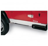 Rocker Panel Cover, Stainless Steel; 87-95 Jeep Wrangler YJ
