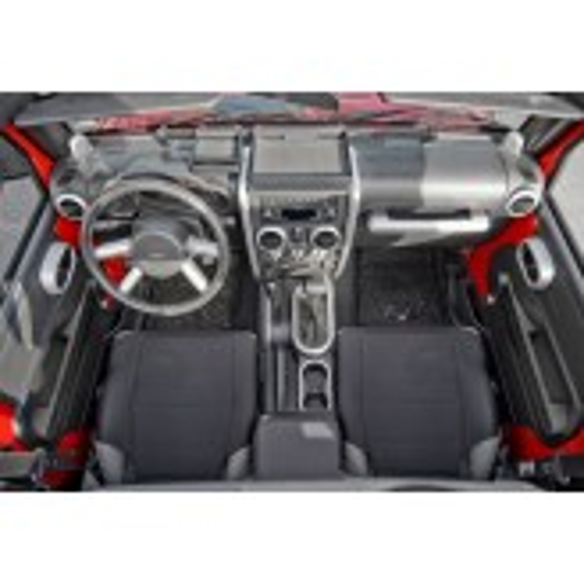 Interior Trim Accent Kit, Brushed Silver; 07-10 Jeep Wrangler JK