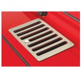 Cowl Vent Cover, Satin Stainless Steel; 98-06 Jeep Wrangler TJ