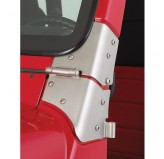 Windshield Hinge Kit, Satin Stainless Steel; 97-06 Jeep Wrangler TJ