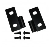 Lower Door Hinge Brackets, Black; 76-06 Jeep CJ/Wrangler YJ/TJ
