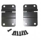 Lower Tailgate Hinge Set, Black; 76-86 Jeep CJ Models