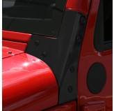 Windshield Hinges, Black; 07-17 Jeep Wrangler JK