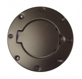 Non-Locking Gas Cap Door, Black; 97-06 Jeep Wrangler TJ