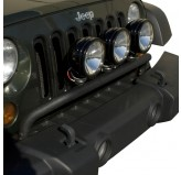 Bumper Mounted Light Bar Textured Blk 07-18 JK