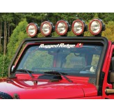 Windshield Mount Light Bar Textured Black 07-12 Jeep JK Wrangler