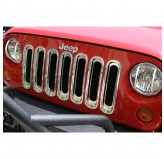 Grille Inserts, Chrome, 07-18 Jeep Wrangler