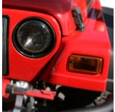 Headlight and Turn Signal Cover Set, Smoke; 97-06 Jeep Wrangler TJ