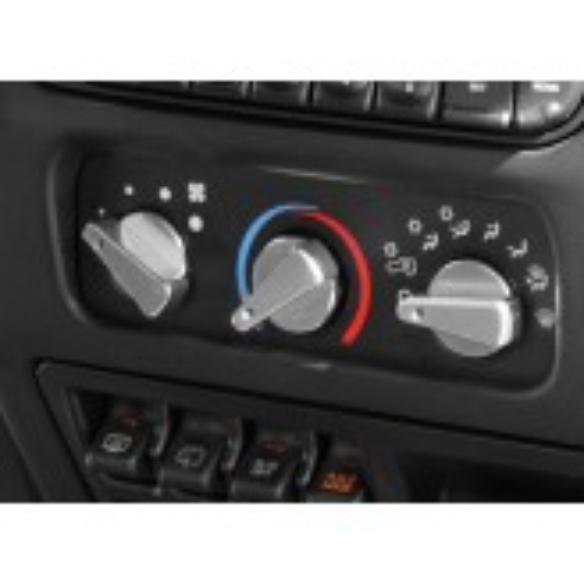 3 Piece Alu Climate Control Knob Set, Blue; 99-06 Jeep Wrangler TJ