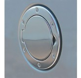 Non-Locking Gas Cap Door, Polished Aluminum; 97-06 Jeep Wrangler TJ