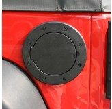 Non-Locking Gas Cap Door, Black; 07-17 Jeep Wrangler JK