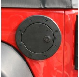 Locking Gas Cap Door Blk Alum 07-18 JK