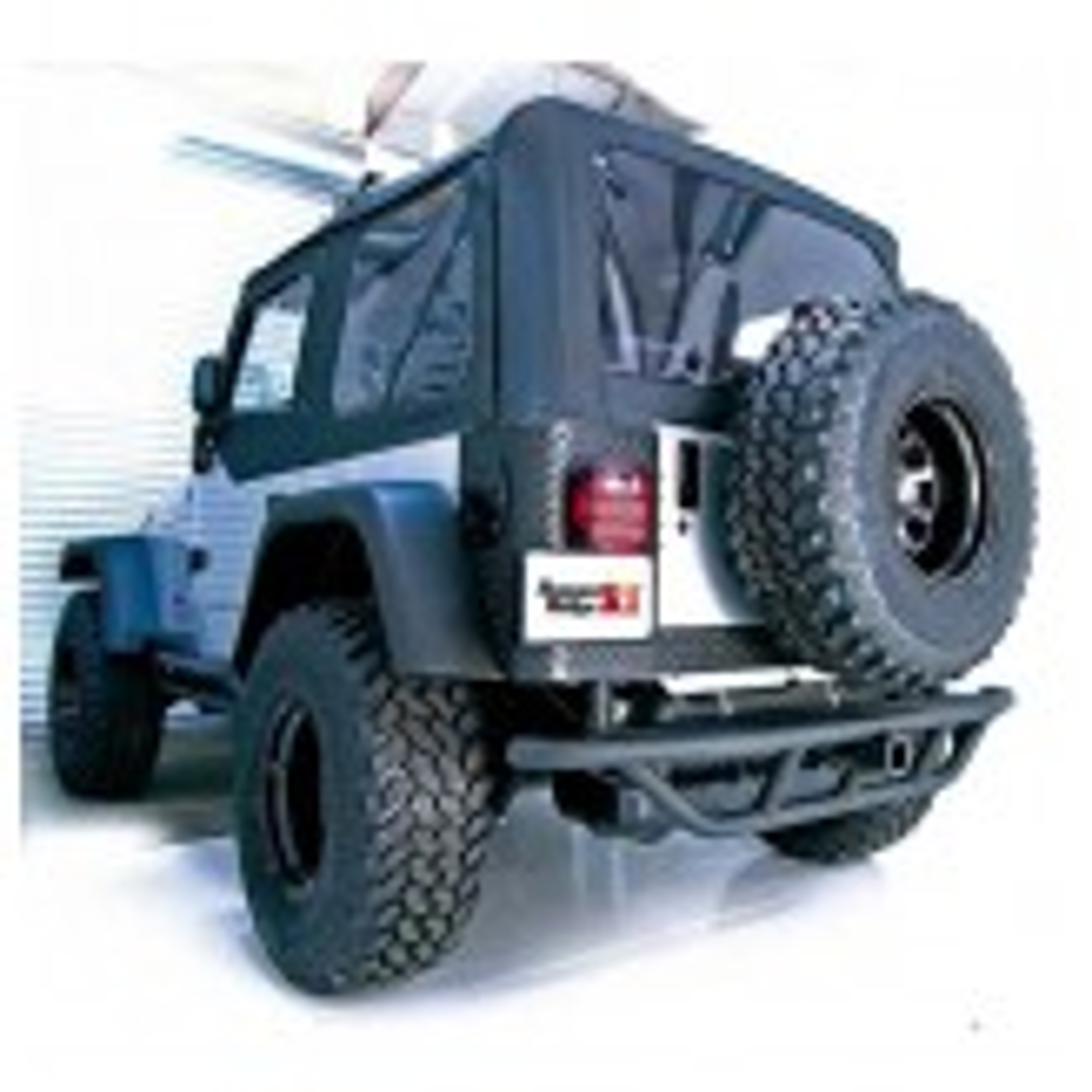 RRC Rear Bumper, 2 Inch Receiver Hitch; 87-06 Jeep Wrangler YJ/TJ