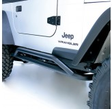 RRC Rocker Guards, Black; 87-06 Jeep Wrangler YJ/TJ