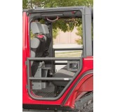 Rear Tube Doors, Textured Black, 07-18 Wrangler