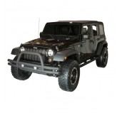 3-Inch Double Tube Front Bumper, 07-18 Wrangler