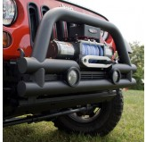 3-In Stubby Tube FrontWinch Bumper, 07-18 Wrangler
