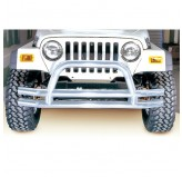 Double Tube Front Bumper, 3 Inch, Stainless Steel; 76-06 Jeep Models