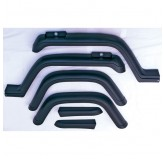 6 Piece Fender Flare Kit; 87-95 Jeep Wrangler YJ