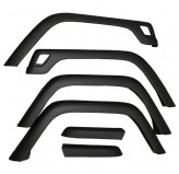 6 Piece Fender Flare Kit; 97-06 Jeep Wrangler TJ