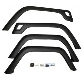 4 Piece Fender Flare Kit; 97-06 Jeep Wrangler TJ