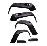 6 Piece All Terrain Fender Flare Kit, 6 inch; 87-95 Jeep Wrangler YJ