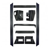 9 Piece Body Armor Kit; 97-06 Jeep Wrangler TJ
