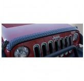 Hood Guard, Body Armor; 07-17 Jeep Wrangler JK