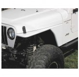 RRC Tubular Steel Flat Fender Kit; 97-06 Jeep Wrangler TJ