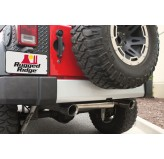 Silver Rear Bumper Applique 07-12 Jeep JK Wrangler