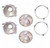 Headlight Assemblies; 72-86 Jeep CJ Models