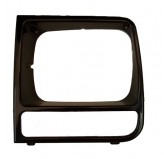 LH Black Headlight Bezel; 97-01 Jeep Cherokee XJ