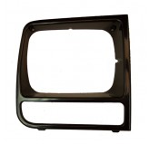 RH Black Headlight Bezel; 97-01 Jeep Cherokee XJ