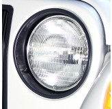 Black Headlight Bezels; 97-06 Jeep Wrangler TJ
