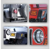 Euro Guard Light Kit; 97-06 Jeep Wrangler TJ