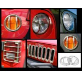 19-Pc Euro Guard Light Kit, SS, 07-18 Wrangler