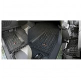 Floor Liners, Kit, Black; 07-17 Jeep Wrangler JKU