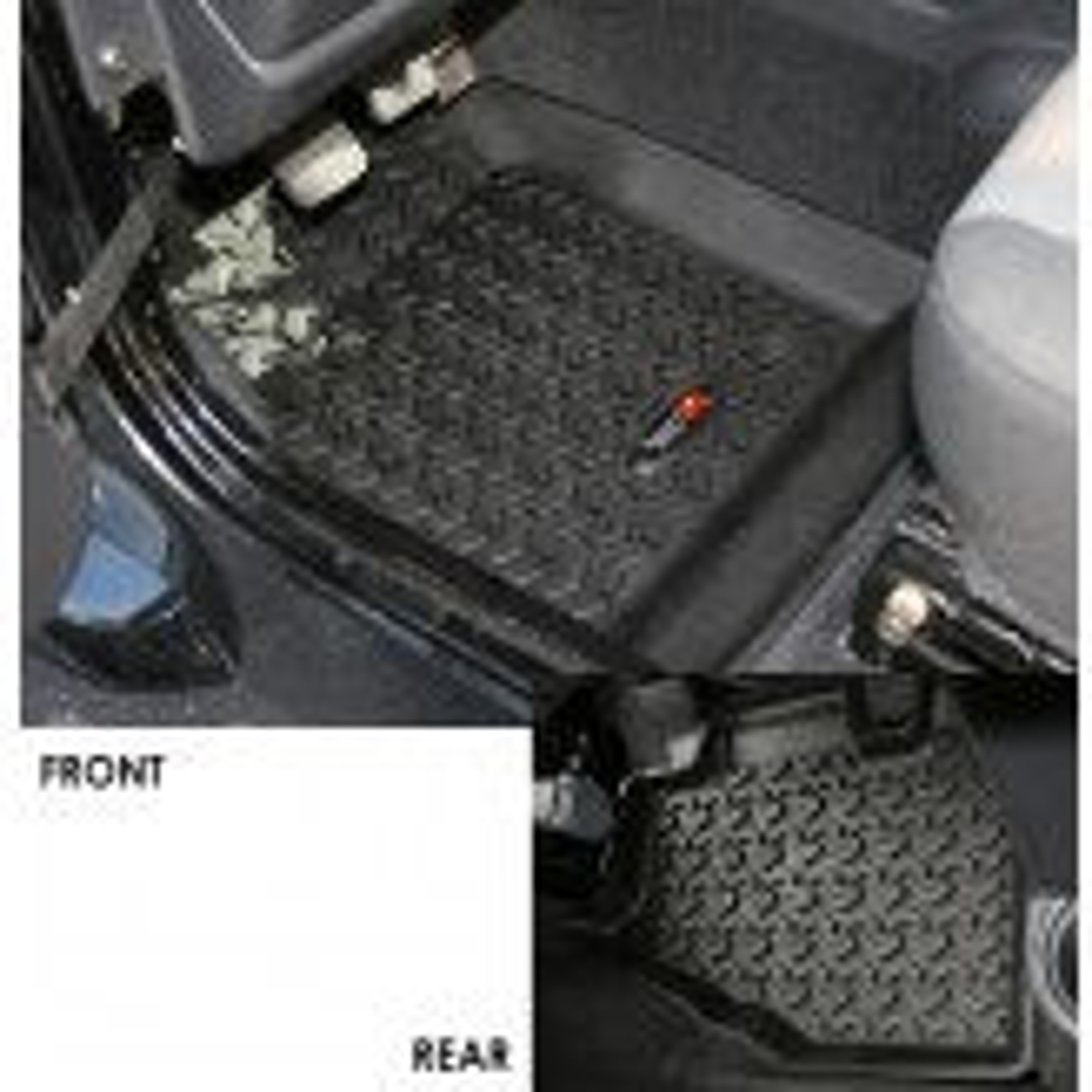 Floor Liners, Kit, Black; 97-06 Jeep Wrangler/Unlimited TJ/LJ